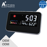 Colorful Weather Station LCD Digital Table Alarm Clock
