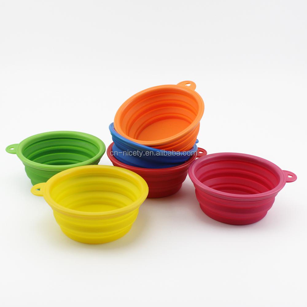 Food Grade Portable Folding Rubber Pet Feeding Bowls