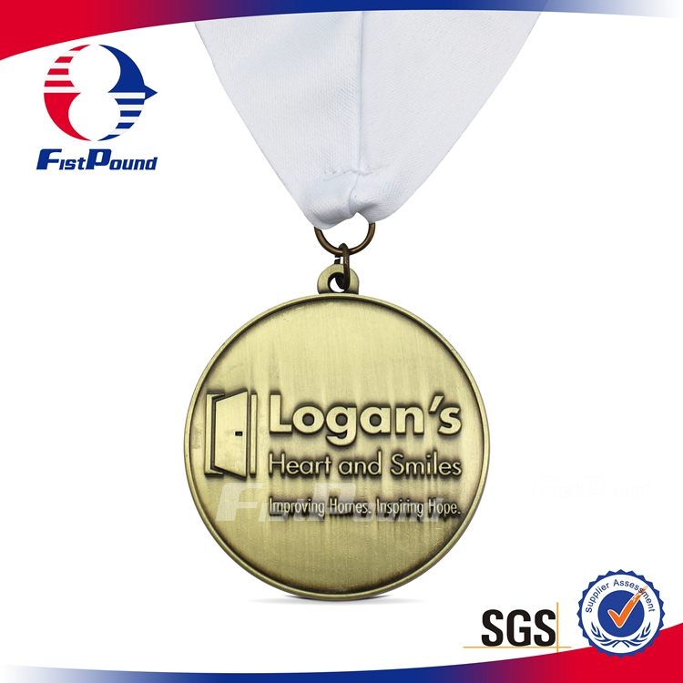 Custom Promotional Medal in Antique Gold Finishing
