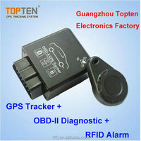 OBD GPS Tracking devices with RFID reader, driver ID, third party GPS server software