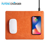 10w qi wireless charger charge leather mouse mat quick charging mouse pad