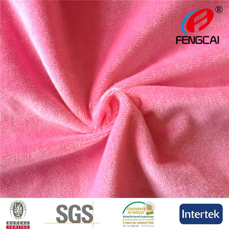 China Textile Manufacturer sells 100% polyester knitting super soft korea velvet fabric for toy