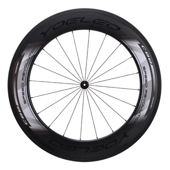 2017 New Yoeleo Chinese Carbon Road Bike Clincher 88mm Wheels With Sapim Cx-ray Striahgt Pull Spokes Wheel