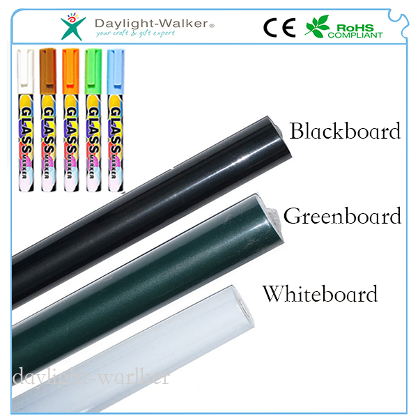 High Quality Amazon hot Sales PVC 60x200cm Wall Decal Blackboard Sticker with chalk Pens