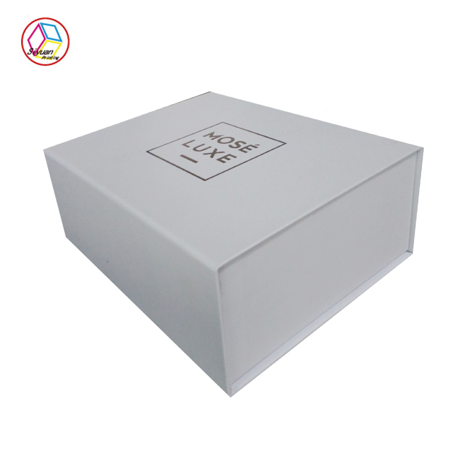 High quality sweet custom logo printed empty handmade satin lined gift boxes