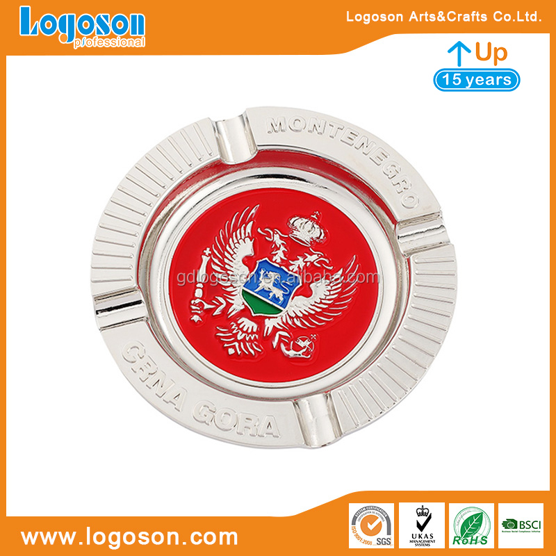 Montenegro Tourist souvenir enamel custom cigar ashtray metal ashtrays