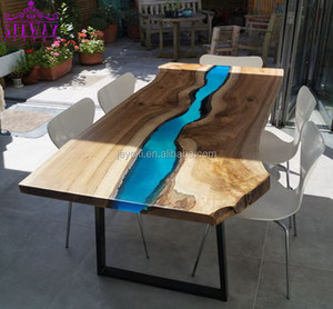Dining Room Furniture Wood Epoxy Resin Resin River Dining Table With Legs