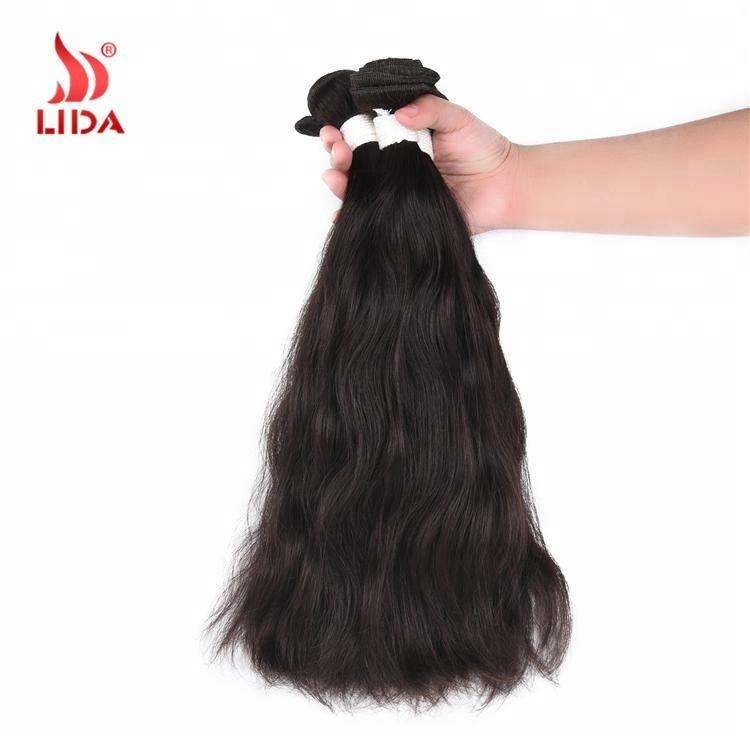 Lida Indian human Hair extensions remy virgin hair Natural