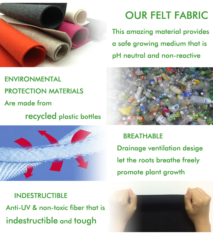 Respirável tecido reciclar reciclar vegetal plantador do jardim cama levantada