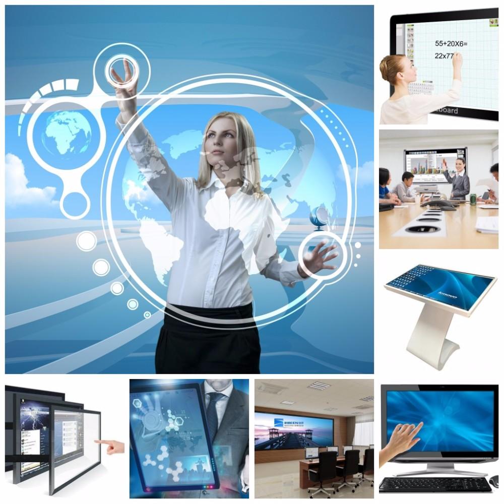 15 pulgadas táctil ir marco panel de pantalla kit de superposición de interactiva tv pantalla táctil pizarra