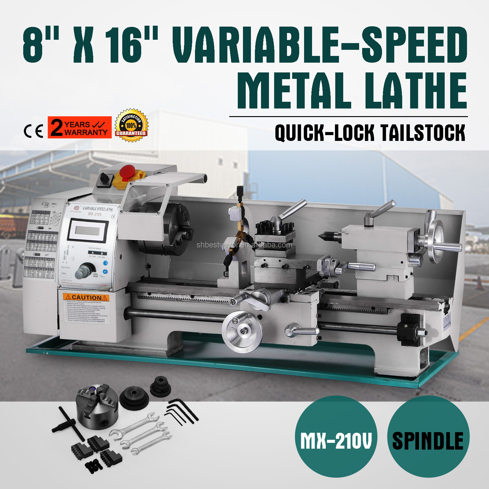 8x16 Inch Metal Processing Variable Speed Mini Lathe Metal Lathe