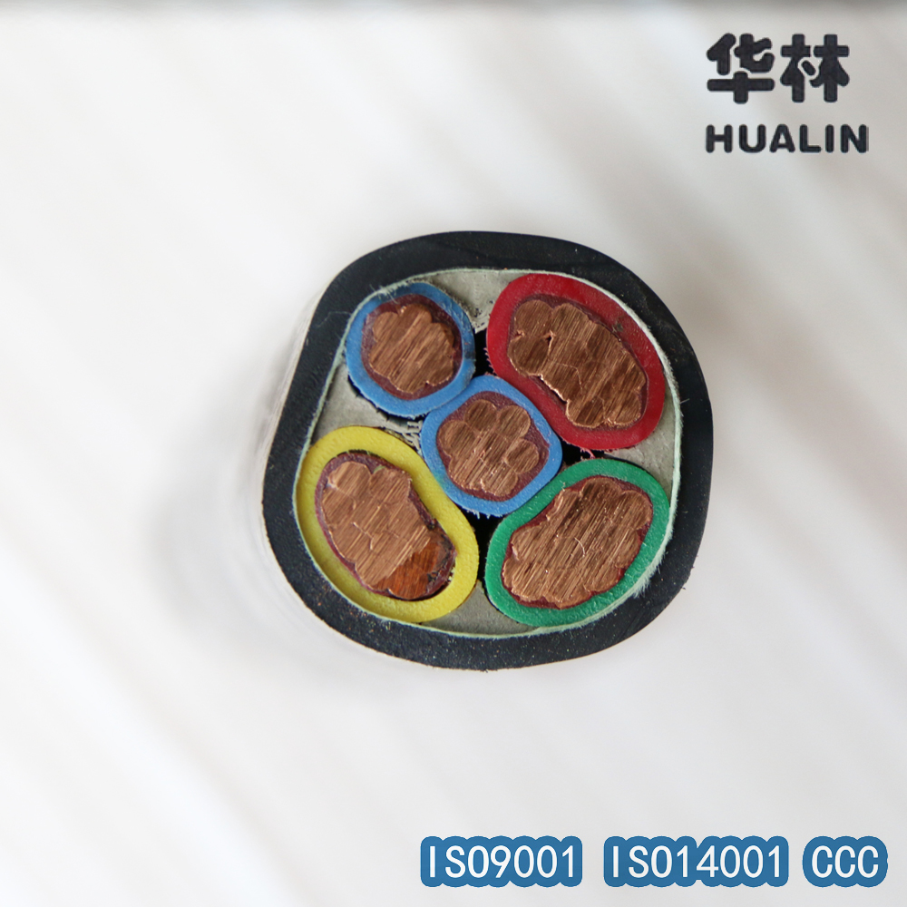High temperature resistance PVC Cable Copper Power cable Price 3*50+25 0.6/1kv