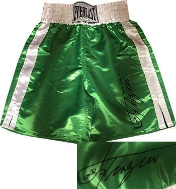 06e4d682c9fa Get Quotations · Joe Frazier signed Everlast Official Fight Green Boxing  Trunks (deceased)- PSA Hologram -