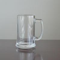 Stocked feature 400ml clear Glassware glass beer Mug with big handle beer glass mug succulent beer glass