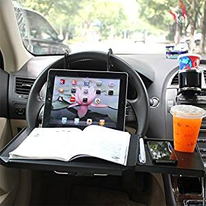 Slience Shopping NEW Multi-functional Car Vehicle Seat Portable Foldable Car Seat Back Pc Mount Tray Black Table Laptop Notebook Desk Table Car Dining Food Drink Desk Cup Holder