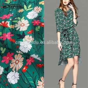 high quality tear-resistant tropical floral printed satin fabric woven fabric
