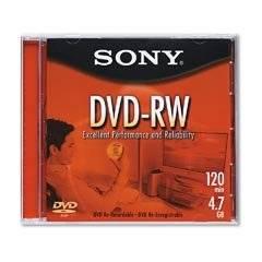 SON59550 - Sony DVD-RW Rewritable Disc with Jewel Case