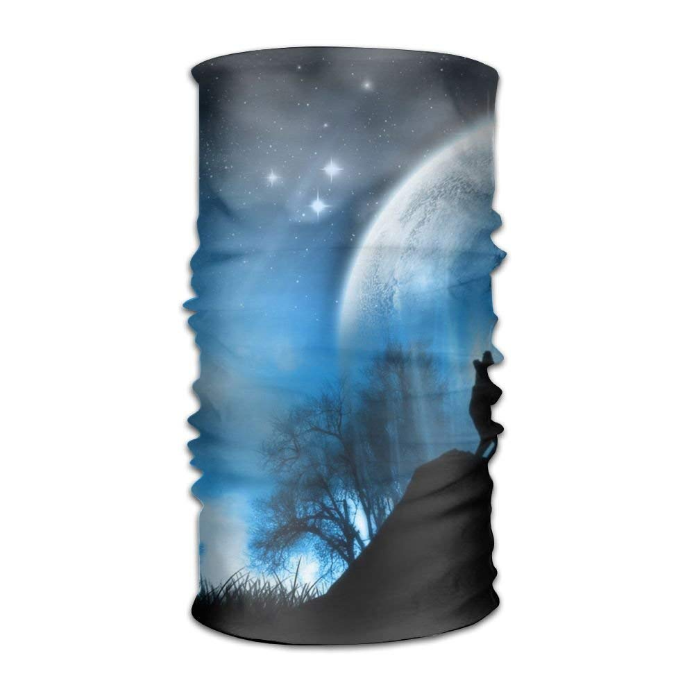 Moon Wolf Starry Sky Unisex Fashion Quick-drying Microfiber Headdress Outdoor Magic Scarf Neck Neck Scarf Hooded Scarf Super Soft Handle
