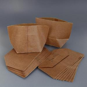 Custom Disposable Packaging Kraft Wax Paper Bags For Food Wring