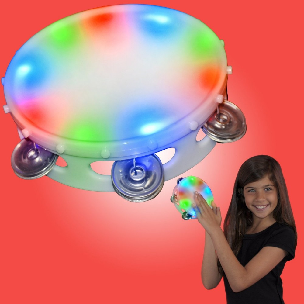 Light Up Round Toy Tambourine