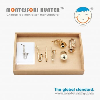 Montessori School Educational Material Instruments set