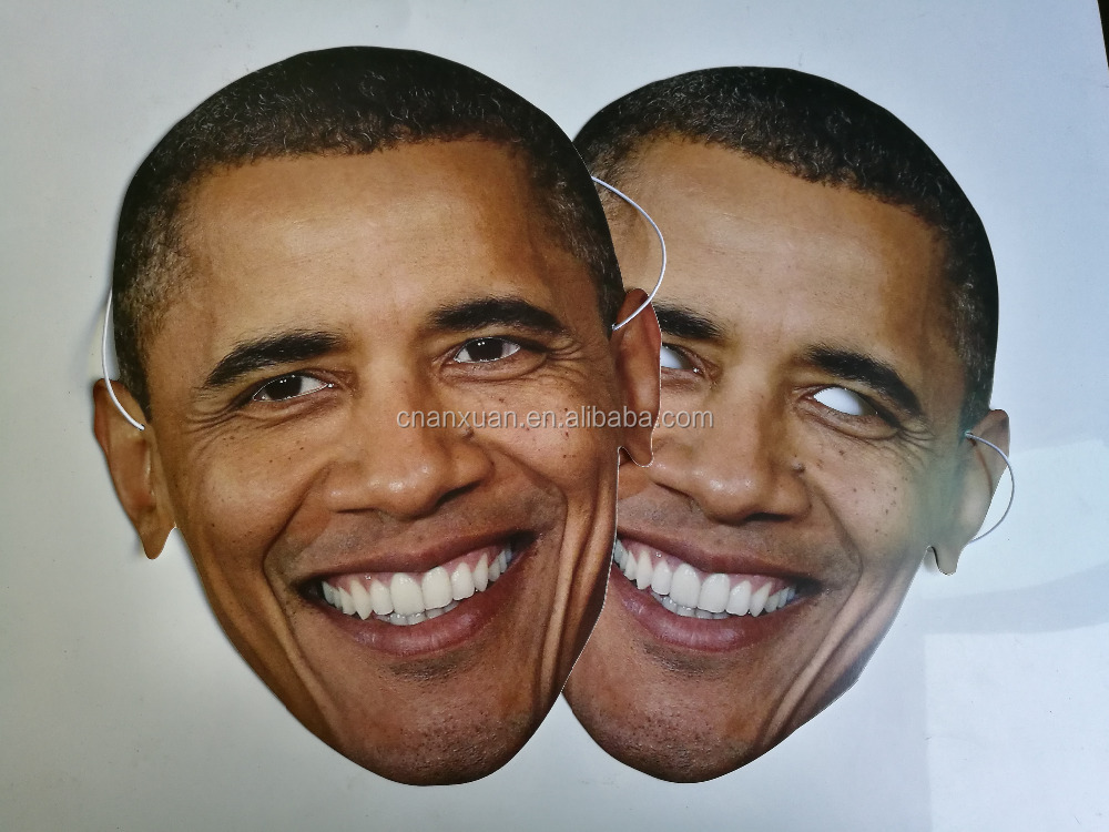President Cosplay Barack Obama real human face mask