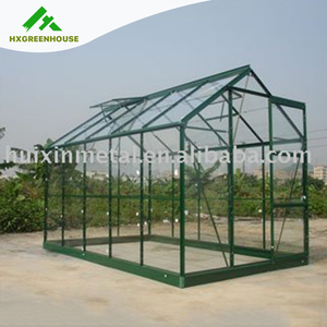 Professional float tempered glass glazing plan Automatic Solar Ventilation glass greenhouse