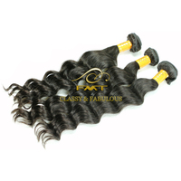 No Chemical Process Lovely Deep Wave 100 european remy virgin cabelo direto da india