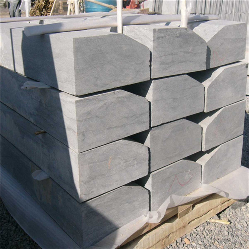 China blue limestone grey stone rubber brick paver