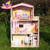 lovely wooden toy doll house for kids,Wooden toy doll house for children,wooded toy Doll house&accessories for baby W06A016