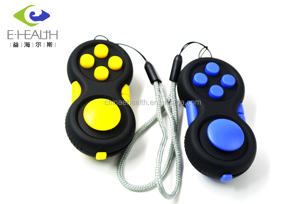 Wholesale 2017 popular fidget hand shank toy unisex adults stress relief ADHD relieves squeeze fun magic fidget pad cube toys