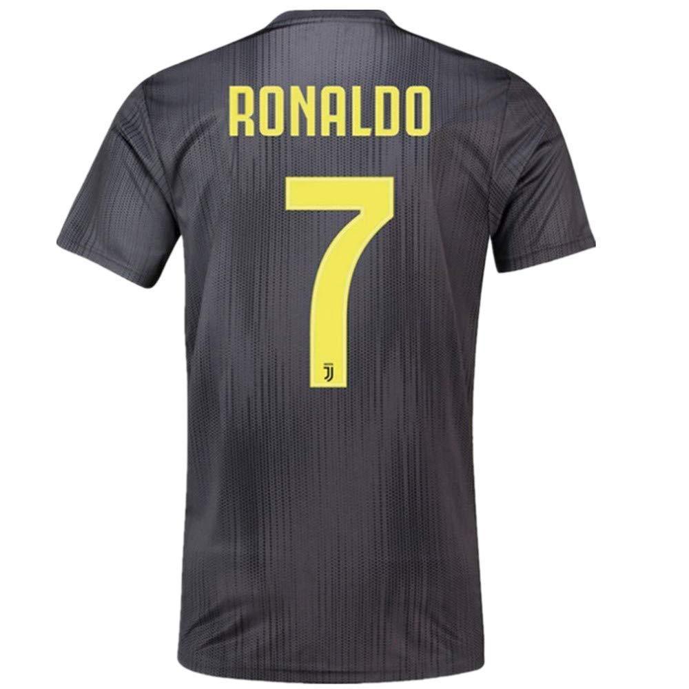 Get Quotations · Ronaldo 7 Juventus 2018 2019 Away Men s Soccer Jersey e94d2f8d0