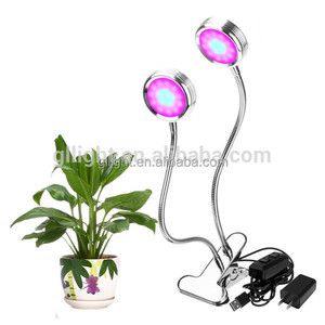 Dual Head LED Grow Light 16W Clip-on USB Desk Lamp 2-Level Plants Hydroponics Led Light