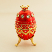 Red Crown Jewellery Box Standing Box Music Box Room Decoration Holiday Eggs