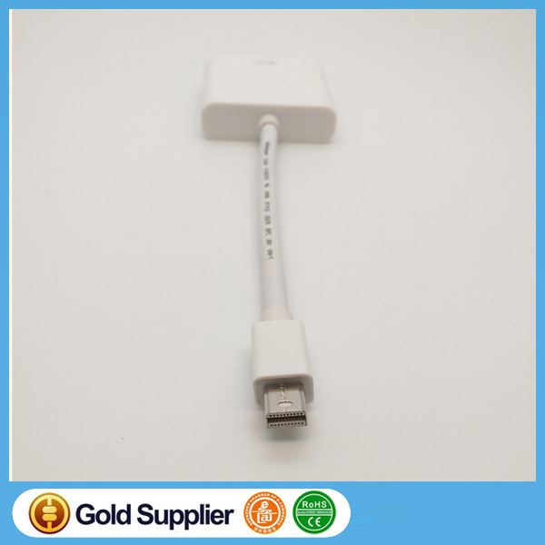 Mini DP to DVI Adapter Male to Female Thunderbolt Mini Display Port DisplayPort V1.2 to DVI Connector for MacBook/Pro/Air
