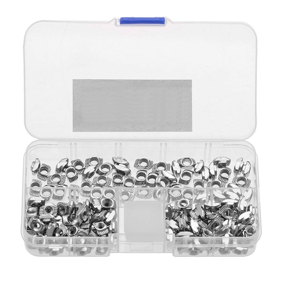 SwitchMe 90Pcs 2020 T-nut, Drop-in M3 M4 M5 T-Slot Nuts for 20/20 Aluminum Extrusion Assortment Kit