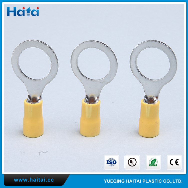 Haitai Wenzhou Yellow Crimp Connector TO-JTK Ring Type Insulated Terminal