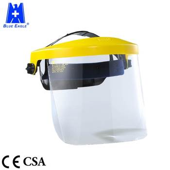 Industrial work plastic visor face safety shield