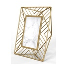 Mayco Home Wholesale Office Desk Decor Gold Brushed Crystal Metal Picture Photo Frame