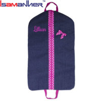 Embroidery children costumes clothes cover cute denim kids garment bags
