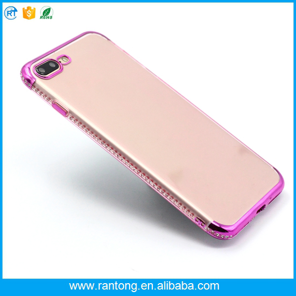 2017 new side single row drill cell phone cover case for iphone 7