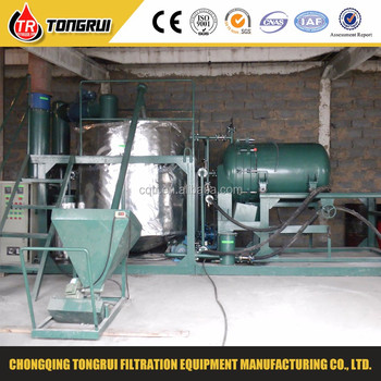 High Vacuum Used Motor Oil Recycling Process Equipment