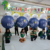 Walking LED Illuminated Glowing Air Balloons Inflatable Backpack Balls for Outdoor Advertising Events