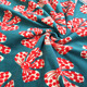 Wholesale 100% polyester flower print flannel fleece fabric single side velvet fabric