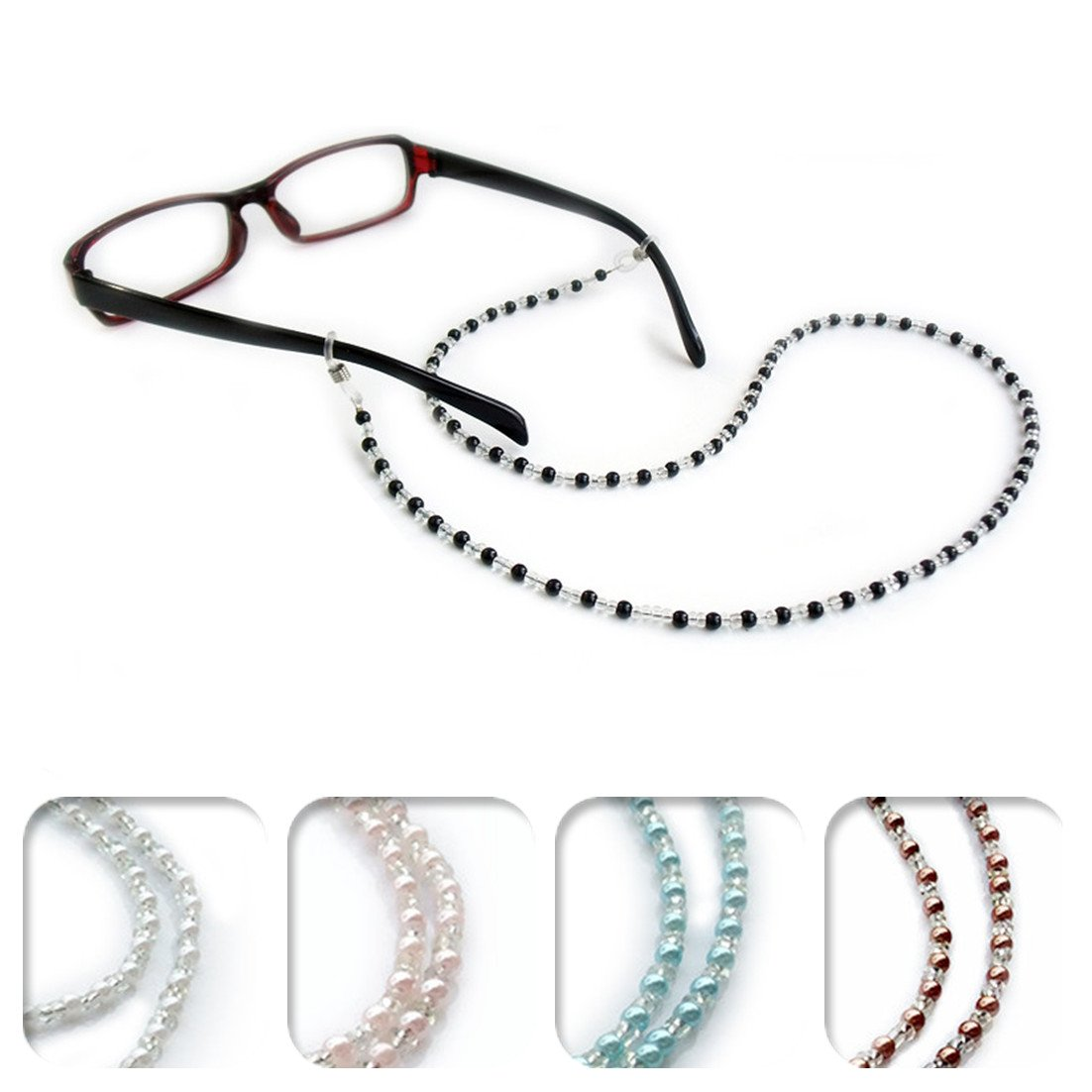 db17a9af12a Get Quotations · Kalevel Eyeglass Chain Holder Glasses Strap Eyeglass Chains  and Cords for Women