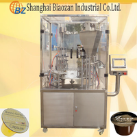 Stainless steel cup sealing machine/coffee capsule filling and sealing machine