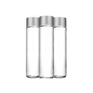 Custom Clear Voss Glass Drinking Water Bottle with Screw Cap for Mineral  Water