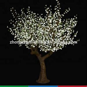 outdoor kunstmatige leidde doek perzik bloesem boom met led verlichting