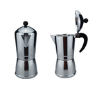 Italian style portable aluminum coffee pot with handle