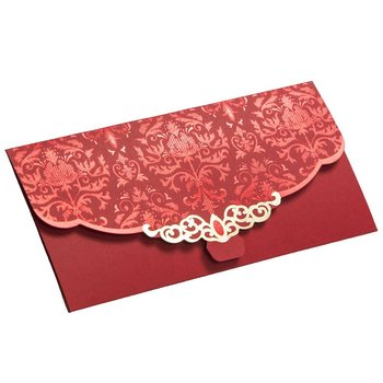 elegant custom design red packet envelope lucky red wedding envelope